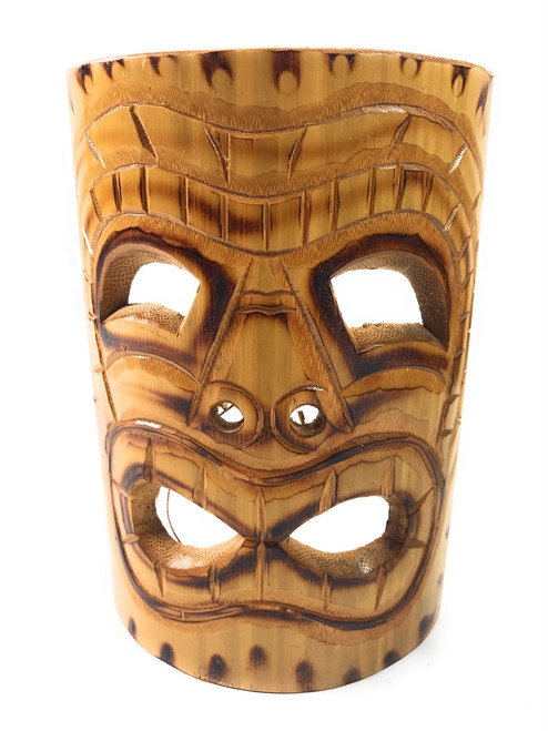 Big Kahuna Bamboo Tiki Mask 7"