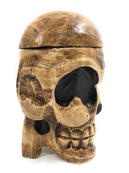"""Standing Skull 9"""" X 5"""" Keepsake Box - Skull Decor   #kng21077"""