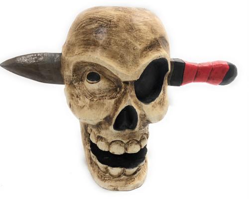 "Skull Head w/ Knife 9"" X 12"" - Pop Art Skull Decor | #kng2102540"