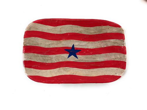 "Wooden Fruit Plate 14"" - Americana Decor | #dpt5324"
