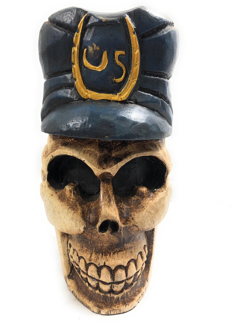 "Skull Policeman Prop 16"" Statue - Pop Art Crossbones Decor 