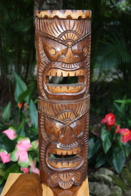 "Beautiful Happiness & Health Tiki Mask 24"" | #dpt541360"
