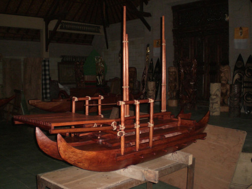 "Hokulea Replica Double Hull Canoe 80"" X 48"" Replica | #bla6053"