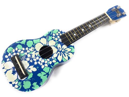 "Decorative Ukulele 17"" - Blue Floral   #kc41051"