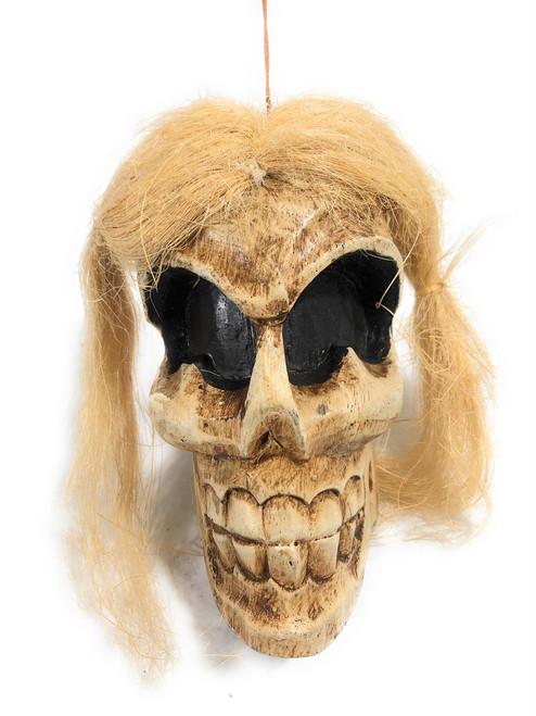 """Shrinking Head 8"""" - Female Hanging Skull Head   #kng2102915"""