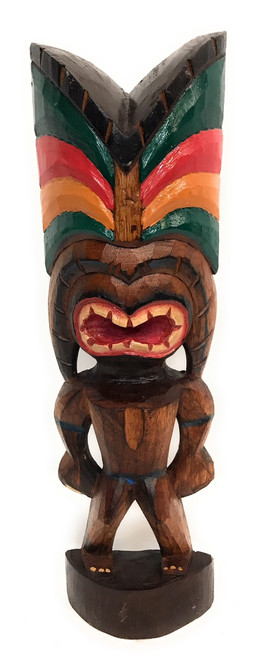 "Love Tiki God 16"" - Hand Carved - Hawaii Treasure 