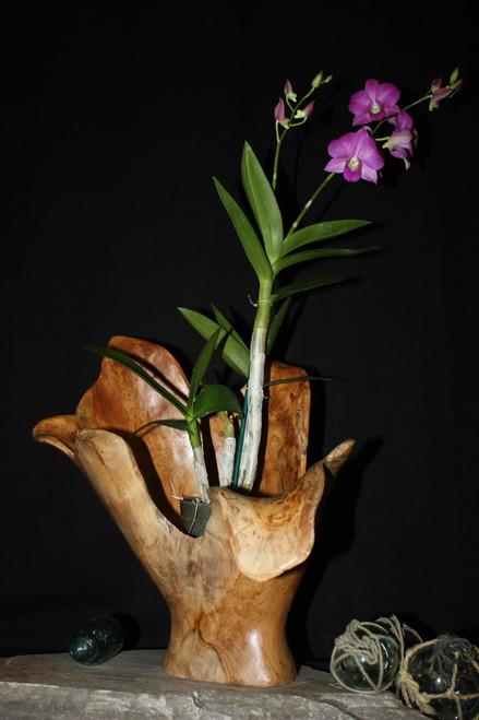 "Wooden Vase Rustic Bowl Sculpture 19"" X 14"" X 16""   #hwa165"