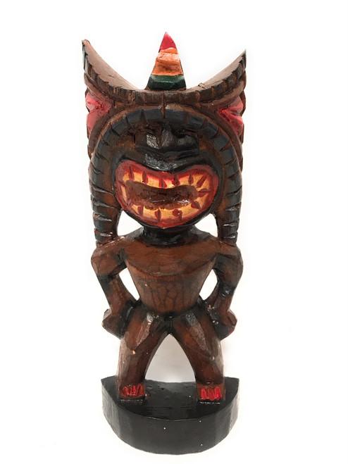 "Money Tiki God 8"" - Hand Carved - Hawaii Treasure   #bag15027b20"