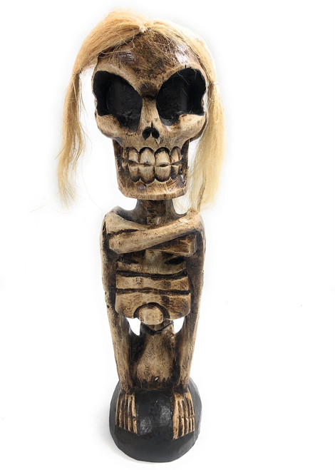 "Female Skeleton Statue 16"" - Skull Decor 
