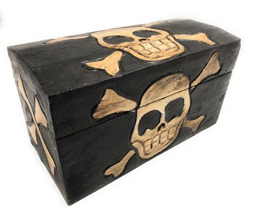 "Treasure Chest Box 8"" X 4"" - Crossbones Decor Accessories | #kng21038"