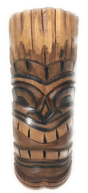 "Happy Tiki Mask 12"" - Antique Finish Hand Carved 