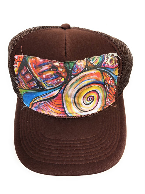 "Aloha Trucker Hats ""Coneshell"" - Hand Stitched in Hawaii   #cwshell"