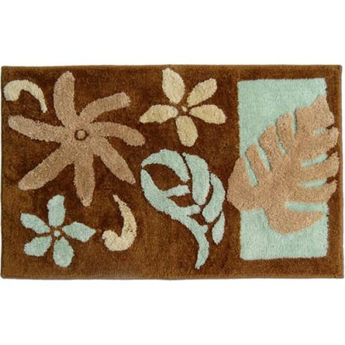"Tiare Rug - Brown 21""x 34"" - Floral Design"