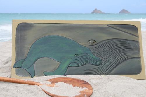 "Humpback Whale w/ Calf 30"" X 15"" - Endangered Species   #dpt518175"
