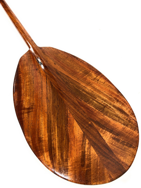 "Unique Curly Koa Paddle 50"" T-Handle - Made In Hawaii 