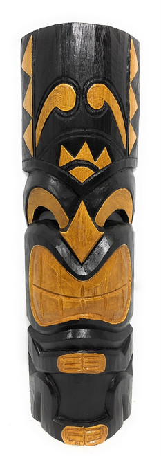 "Laughing Tiki Mask 20"" - Hand Carved Smiley Tiki 
