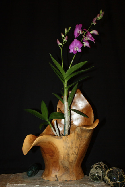 "Wooden Vase Rustic Bowl Sculpture 13"" X 10"" X 17"" 