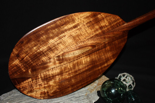 """AAA GRADE Curly Hawaiian Koa Paddle 60"""" - Made in Hawaii 2"""
