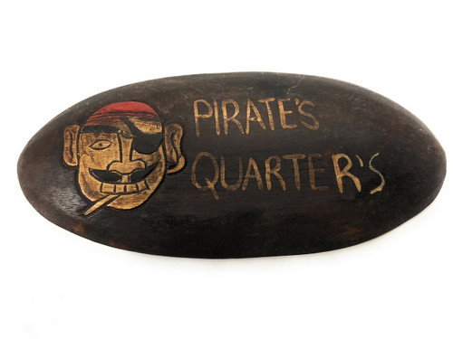 "Pirate's Quarters Sign 12"" - Pirate Decor 