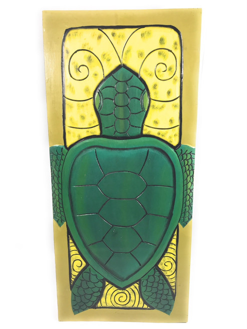 "Turtle Storyboards  30"" X 15"" Carved/Painted - Endangered Species 