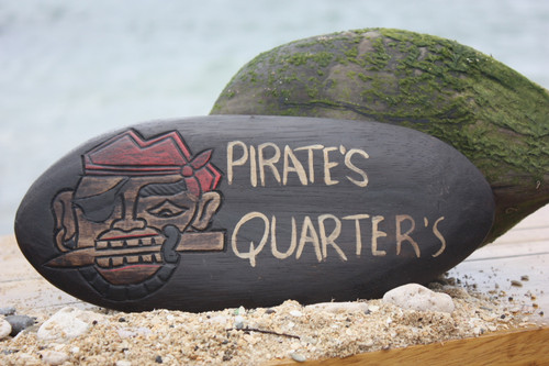 """PIRATE'S QUARTERS"" PIRATE SIGN - SURF PIRATE DECOR 2"