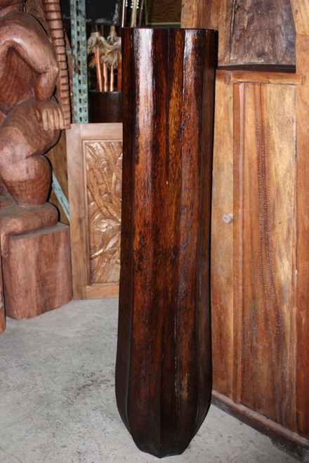 """ARCHITECTURAL PALM POT - 60"""" - HEXAGONAL CARVED OUT TRUNK"""