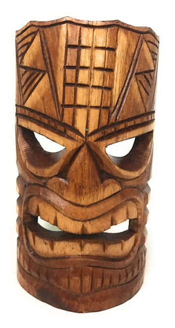 "Prosperity Tiki Mask 8"" - Hand Carved 