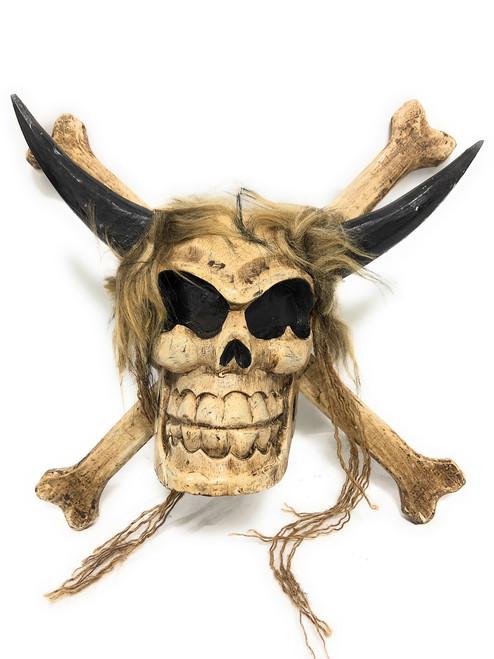 "Cross Bones Hanging Sign 12"" - Bullish Long Horn   #kng21055"