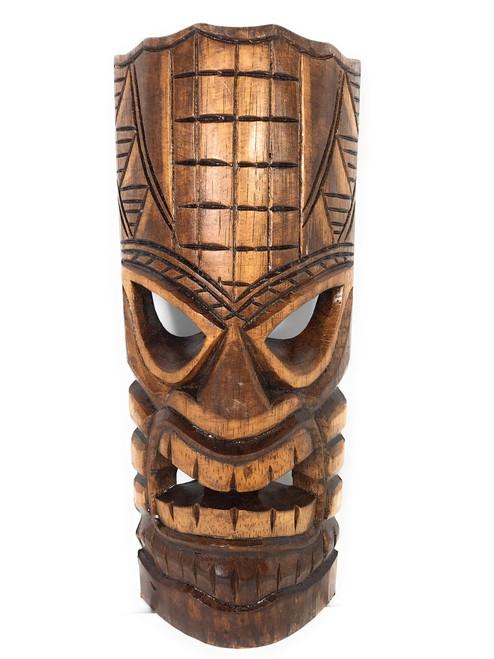 "Prosperity Tiki Mask 12"" - Hand Carved | #bag1505030"