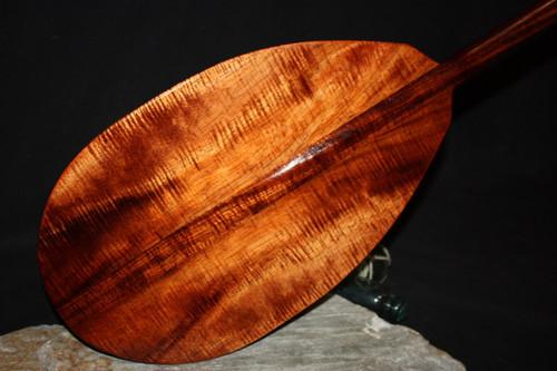 "AAA Tiger Curls Koa Paddle 50"" T-Handle | #koa4300"