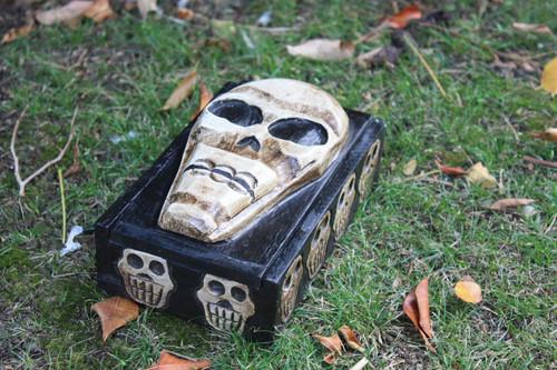 "Treasure Chest Box 10"" - Cross Bones Accessories"
