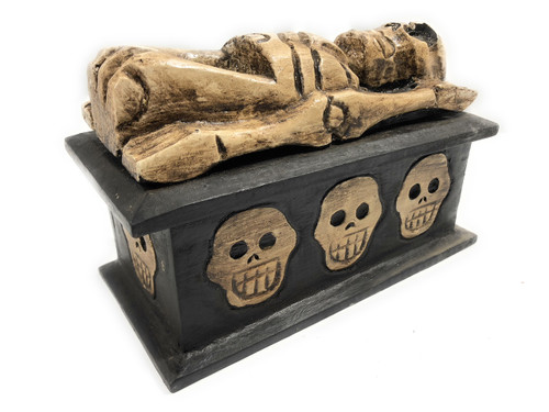 "Treasure Chest Box 8"" X 5"" - Keepsake Cross Bones Accessories 