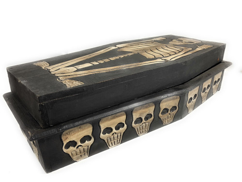 "Large Treasure Chest Box 24"" X 12"" - Cross Bones Accessories 