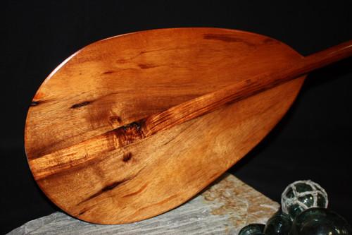 """Teardrop Hawaiian Koa Paddle 50"""" T-Handle - Made In Hawaii"""