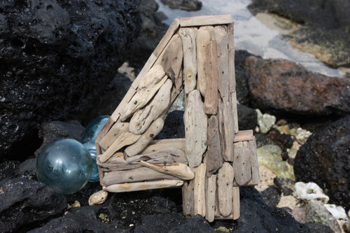 """""""4"""" Driftwood Number 10"""" Home Decor"""