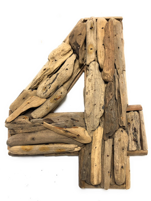 """4"" Driftwood Number 10"" Home Decor - Rustic Numerical 