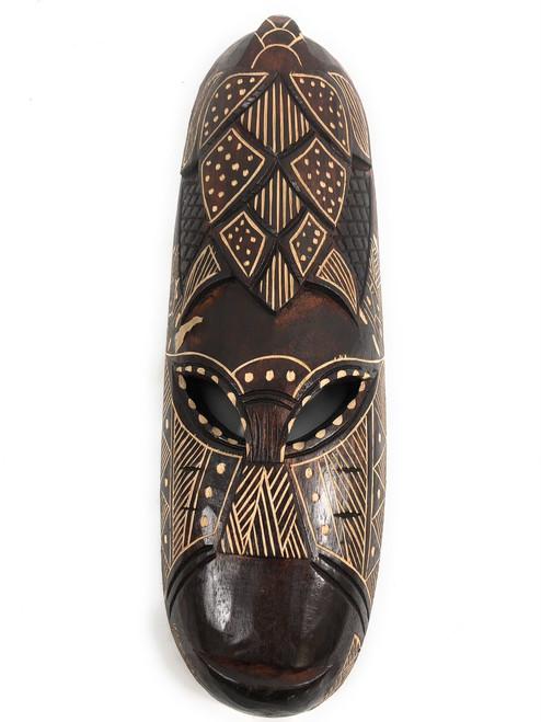 "Fijian Tiki Mask 20"" - Long Life - Polynesian Art | #mdr1900350"