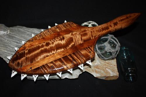 """AAA Grade Koa War Club 19"""" - Shark Teeth   #koa3991"""