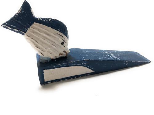 "Door Stopper w/ Fish 4"" - Blue Nautical Decor Accents | #ort1701410b"
