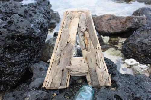 """A"" Driftwood Letter 10"" Home Decor"