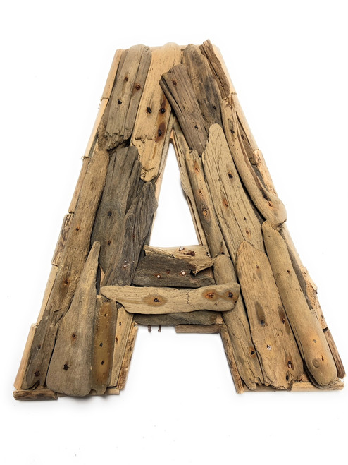 """A"" Driftwood Letter 10"" Home Decor - Rustic Accents 
