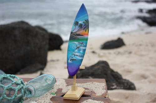 "Surfboard w/ Stand Island Lifestyle Design 6"" - Trophy"