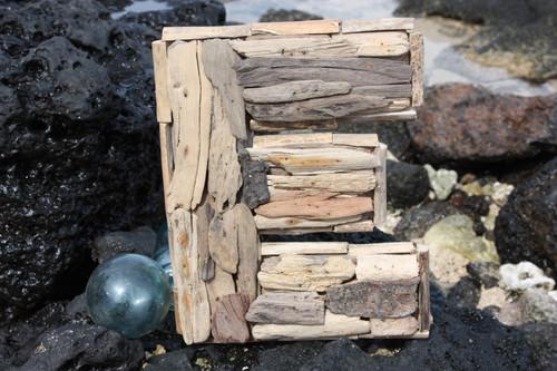 """""""E"""" Driftwood Letter 10"""" Home Decor"""