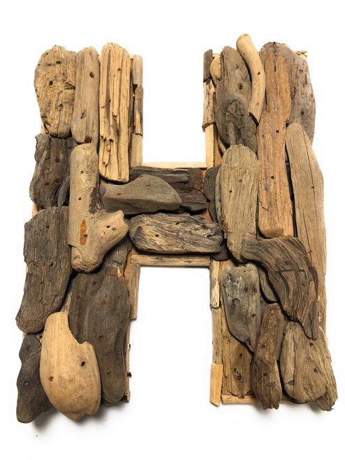 """""""H"""" Driftwood Letter 10"""" Home Decor - Rustic Accents   #lis31001h"""