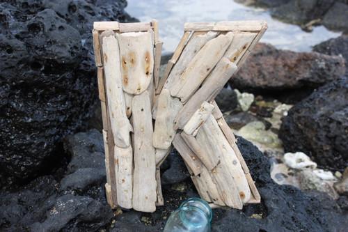 """""""K"""" Driftwood Letter 10"""" Home Decor"""