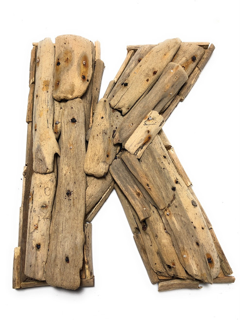 """K"" Driftwood Letter 10"" Home Decor - Rustic Accents 