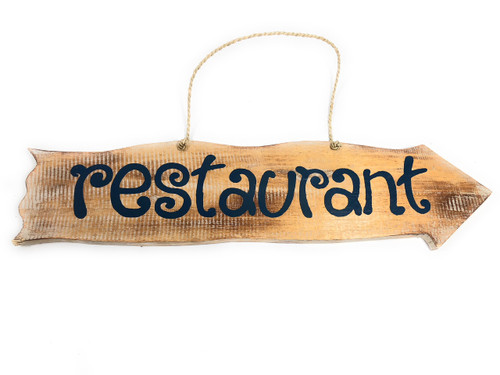 "Restaurant Driftwood Sign 20"" - Tiki Bar Decor   #snd2505550"