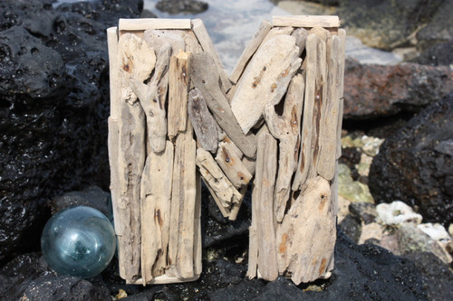 """""""M"""" Driftwood Letter 10"""" Home Decor"""