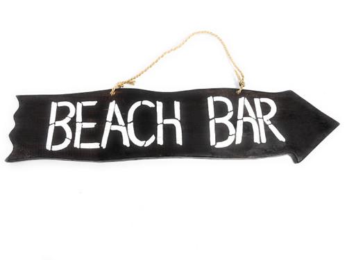 "Beach Bar Driftwood Sign 20"" - Tiki Bar Decor   #snd2505650"