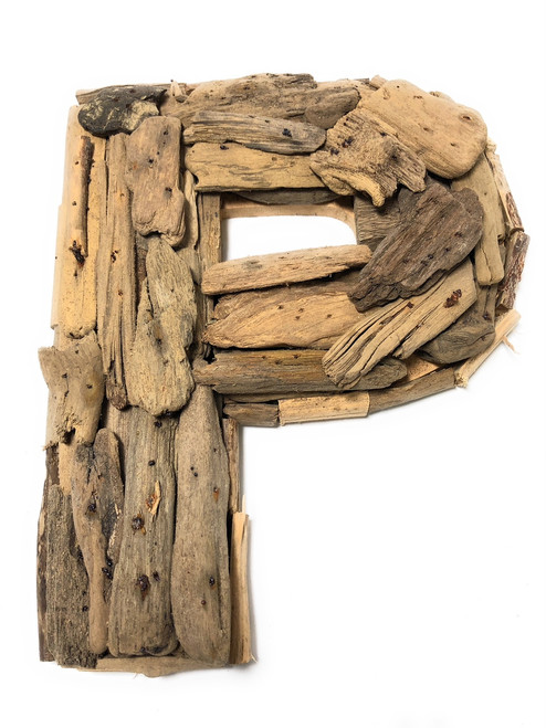 """P"" Driftwood Letter 10"" Home Decor - Rustic Accents 